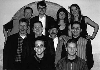 Pressefoto der ursprünglichen Besetzung, aufgenommen in der kreativfabrik/mattersburg
